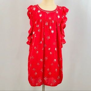 Cat & Jack Girls Ruffle Red Dress Size Medium 7/8